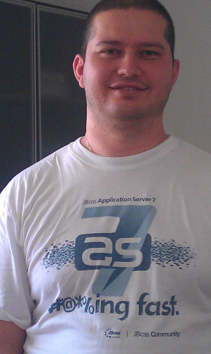 Alexander in JBoss AS t-shirt